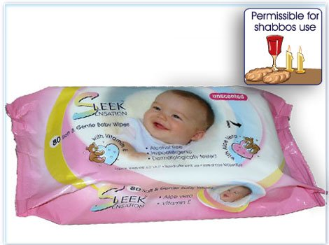 Sleek Sensation Unscented Baby Wipes- 80 Count - 1