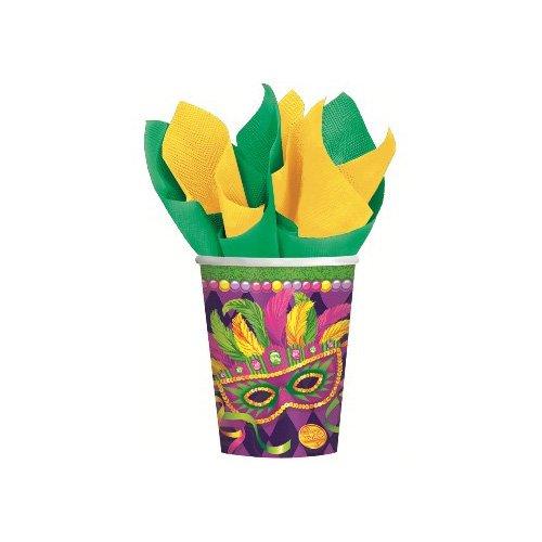 Mardi Gras Masquerade Cups 8ct