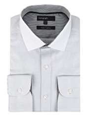 Boxed 2in Longer Autograph Pure Cotton Cutaway Collar Shirt