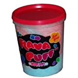 Flava Puff Cotton Candy, 2.5-Ounce Tubs (Pack of 12) ~ Flava Puff