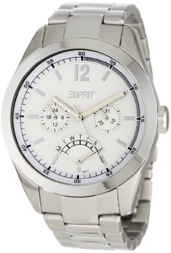 ESPRIT Men's ES102831005 Avalance Silver Multifunction with White Dial Watch