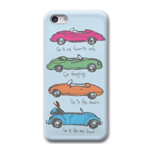33design×collaborn iPhone5c専用スマートフォンケース 4 OPEN CAR Blue BR-I5C-041