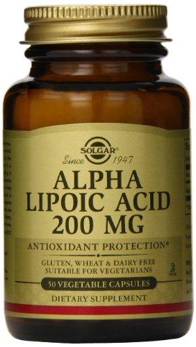 Solgar Alpha Lipoic Acid Vegetable Capsules, 200 Mg, 50 Count