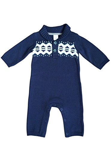 Carter's Baby Boys Sweater Knit Coverall Jumpsuit auro mesa christmas baby romper elk print jumpsuit cotton infant coverall outerwear baby boys hooded one piece clothes