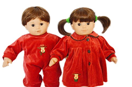 REINDEER SET FOR AMERICAN GIRL DOLLS BITTY TWINS AND BITTY BABY 15 INCH DOLL CLOTHES