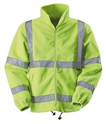 Blackrock Men's Hi-Vis Fleece Jacket - Yellow, Large