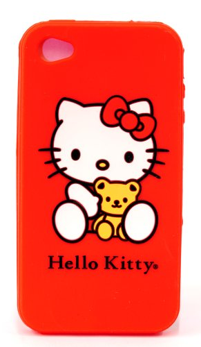 Hello Kitty Silicone iPhone 4/4s Case - Red (22509-HK) - 1