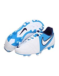 Nike Women's CTR360 Enganche III FG Soccer Shoe,White/Blue Glow/Night Blue/White Size 6 1/2