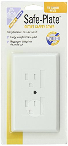Mommys Helper Safe Plate Electrical Outlet Covers Standard, White Image