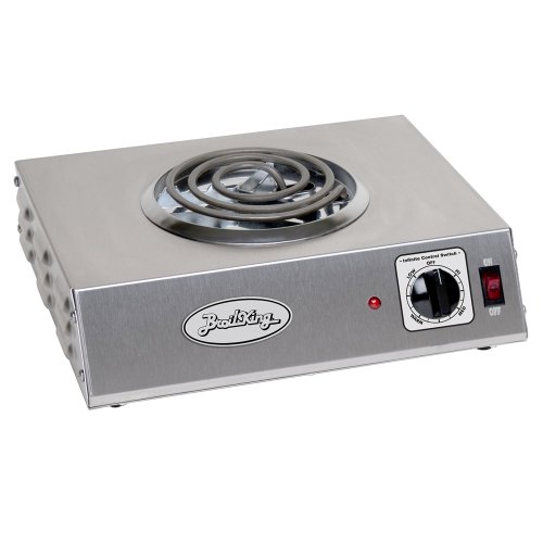 Broil King CSR-1TB Professional Single Hot Plate, 14-Inch by 4-1/8-Inch by 12-1/4-Inch, Grey
