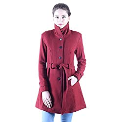 Owncraft maroon wool coat for women
