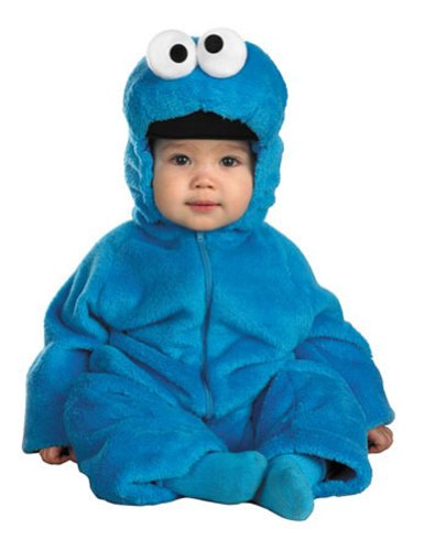 Baby-Toddler-Costume Cookie Monster Deluxe Toddler Costume 12-18Mon