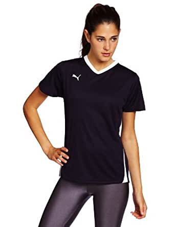 Puma Apparel Women's Powercat Soccer Training Shirt, New Navy/White, X-Small