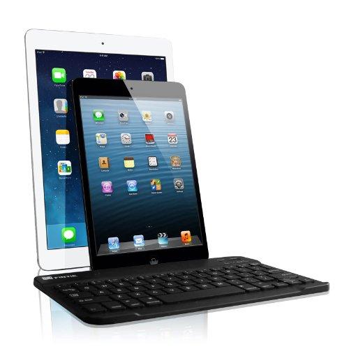 Fintie Ultrathin (4Mm) Wireless Bluetooth Keyboard For Ios (Apple Ipad Air, Ipad Mini 2, Ipad 2 / 3 / 4) Function Keys For Ios, 9-Inch Black