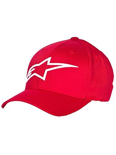 Alpinestars Logo Astar Men's Flexfit Casual Hat/Cap - Red/White / Large/X-Large