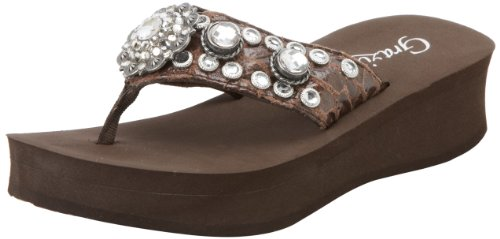 Grazie Women'S Mystic Flip Flop,Brown,10 B Us back-555353