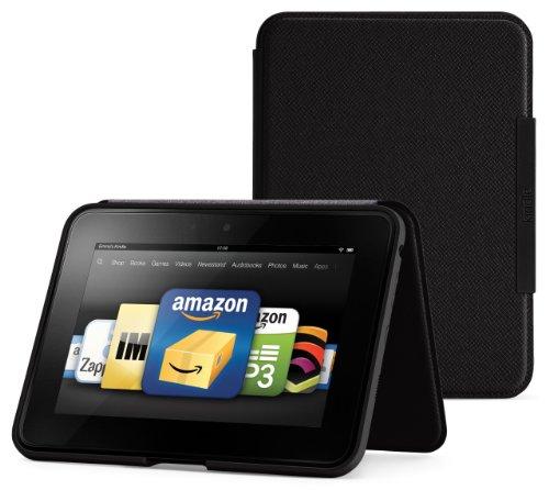 Amazon Kindle Fire HD(2012年モデル) スタンド型レザーカバー、オニックスブラック