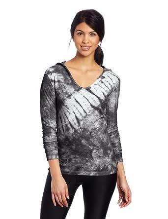(疯抢)卡尔文Calvin Klein Women's Tie Dye Hooded Long美女休闲连帽衫黑$21.33