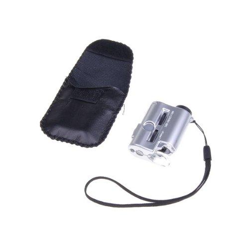 Bestdealusa Mini 30 To 60X Portable Pocket Microscope Jewelry Loupe Led Uv Light Magnifier