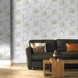 Fresco Watercolour Floral Wallpaper - Cream by New A-Brend