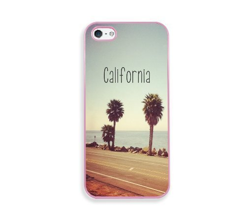 California Beach Phone Case [Customizable by Buyers] [Create Your Own Phone Case] Slim Fitted Hard Protector Cover for Samsung Galaxy S6