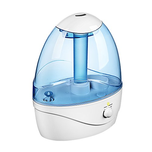 Seneo Cool Mist Ultrasonic Humidifier, 2.5L Whole House Humidifiers with 12-hour Working Time, Germproof Water Tank, Adjustable Mist Spray, Night Light for Baby Bedroom Home and Office (Room Steam Humidifier compare prices)