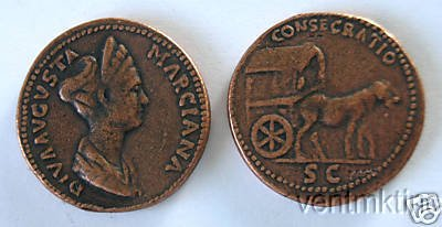 (DD S 53) Sestertius of Marciana COPY