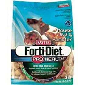 Kaytee Forti Diet Pro Health Mouse &amp; Rat 3lb 6cs