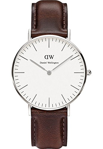 Daniel-Wellington-Damen-Armbanduhr-St-Andrews-Analog-Quarz-Leder-0607DW