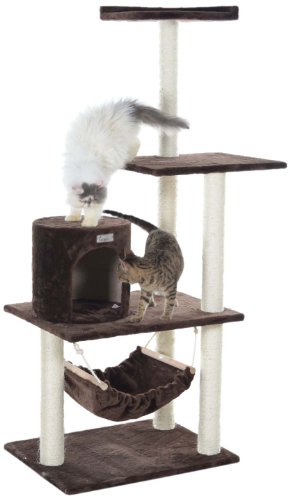 GleePet GP78590223 Cat Tree with Hammock, 59-Inch, Coffee Brown