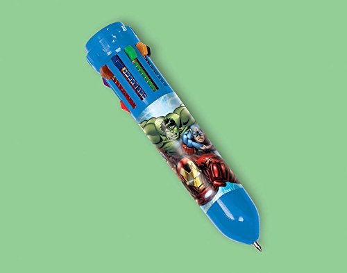 Amscan Avengers Birthday Party 10-Color Retractable Ball Pen Favor, 3 3/4