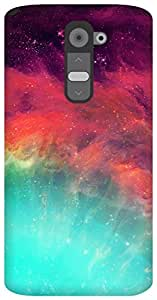 The Racoon Grip wonderful stars hard plastic printed back case for LG G2