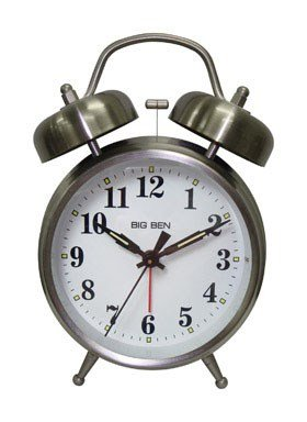 Westclox Alarm Clock 4 Quartz Movement Brushed Nickel Case Metal Case 1 Aa Battery