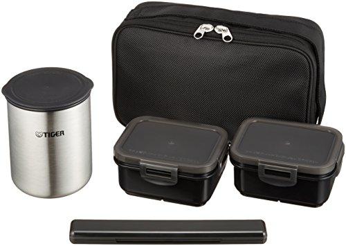 タイガー 魔法瓶 保温 弁当箱 ステンレス ランチ ジャー 茶碗 約 1.5 杯分 ブラック LWY-R030-K Tiger