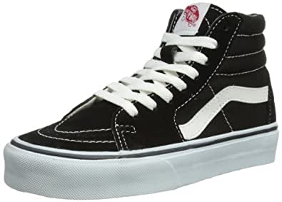Vans U Sk8 Hi, Baskets mode mixte adulte - Noir (Black) - 34.5 EU (Taille Fabricant : 3.5 US)