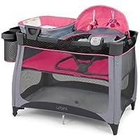 Urbini 4-in-1 Nesti Play Yard (Grey/Pink)