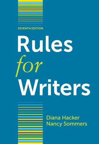 Rules for Writers [Spiral-bound]