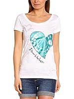 Desigual Camiseta Manga Corta Priscila (Blanco)