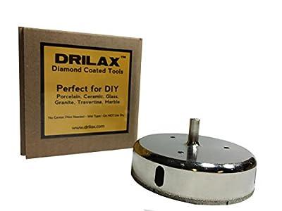 4 1/2 Inch Diamond Hole Saw Diamond Tipped Tile Ceramic Glass Hole Saw Drill Bit 115mm 115 mm by DRILAX