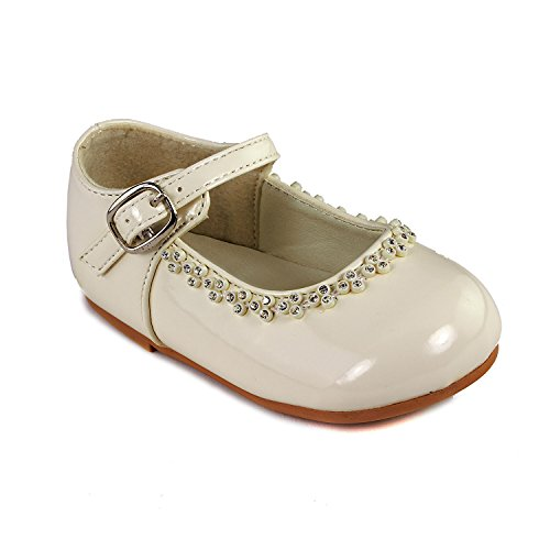 Brianna'S Patent Leather Party Shoes For Infants (Infants 5, Ivory) front-36247