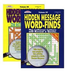 Hidden Message Word Finds (Volumes vary see sellers for vol#) by Kappa - 1