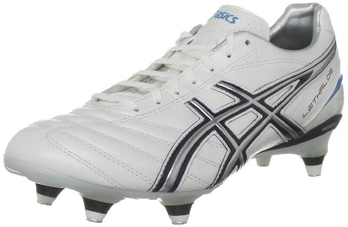 ASICS Men's Lethal Ds 3 St Pearl White/Navy Rugby Boot P008Y 0050 14 UK