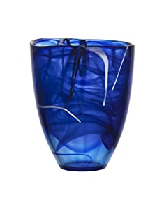 Amazon.com - Kosta Boda Contrast Vase, Blue Large - Cobalt