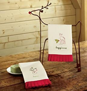 TAG Woodlands Embossed Guest Towels Set of 2
