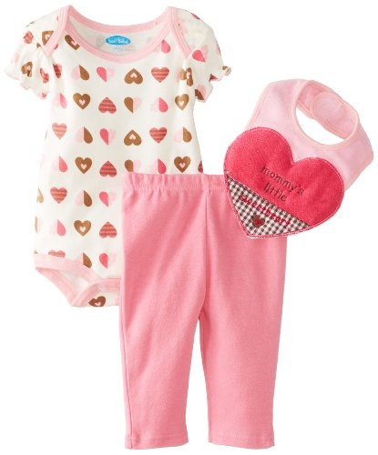 Bon Bebe Baby-Girls Newborn Mommy'S Little Sweetheart Bodysuit And Legging Set, Multi, 6-9 Months front-1074835
