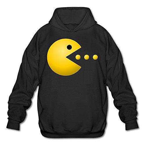 PHOEB Mens Sportswear Drawstring Hoodie Sweatshirt,Pacman Logo Black XX-Large