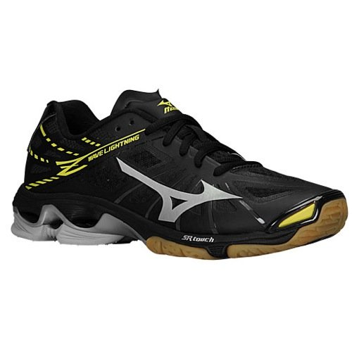 Black And Gold Mizuno Volleyball Shoes