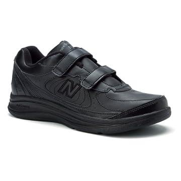 New Balance 577 Men's Leather Velco Walking Shoes (Black)
