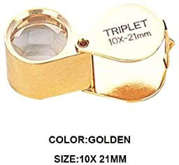 Micro View 10x Golden Triplet Jeweler\'s Loupe