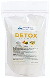 Detox Bath Salt 1 Pound Size - Epsom Salt Bath Soak With Ginger & Lemon Essential Oils Plus Vitamin C - All Natural Ingredients No Perfumes No Dyes - Detoxify & Revitalize Your Body & Mind Naturally